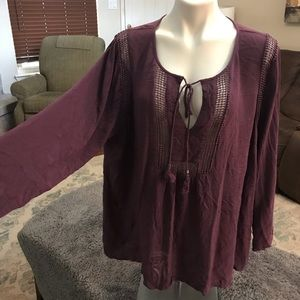 Daniel Rainn 3x purple blouse